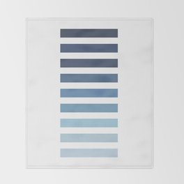 Sky and Water Blue Palette Throw Blanket