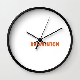 Racket Racquet Rally Serve Court Shuttlecock Eat Sleep Badminton Repeat Gift Wall Clock