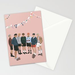 BTS Young Forever Pattern - Pink Stationery Cards