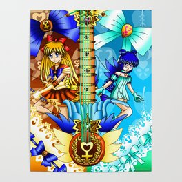 Sailor Mew Guitar #23 - Sailor Venus & Mew Minto Poster
