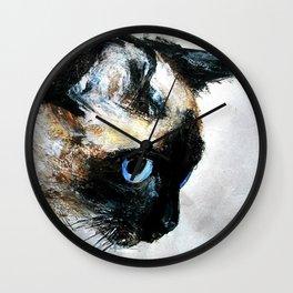 Siamese Cat Wall Clock