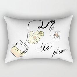 tea but yellow Rectangular Pillow