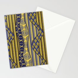 Wrap in Blue and Yellow Stationery Cards