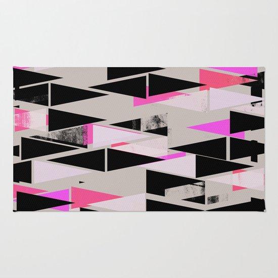 Pink Triangles II Rug