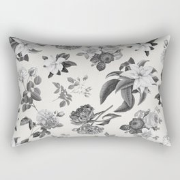Vintage flowers on cream blackground Rectangular Pillow