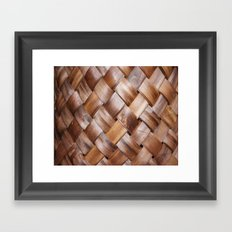 Basket Weave Texture (2) Framed Art Print