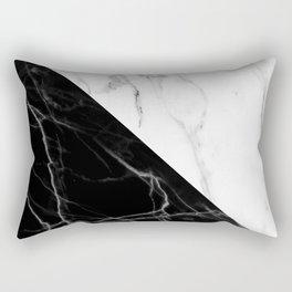 half black half white marble Rectangular Pillow