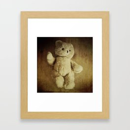 Old Teddy Bear Framed Art Print