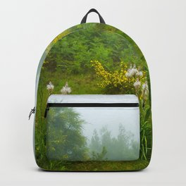 Green forest after raining Backpack