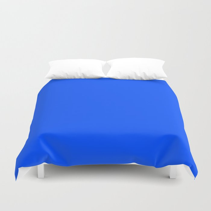 Tropical Blue Solid Color Duvet Cover