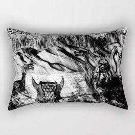 Hostile Shores Rectangular Pillow