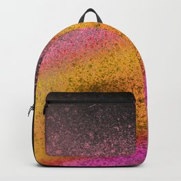 Sunset and Black Paint Splatter Backpack