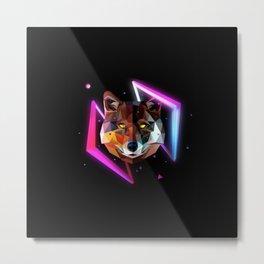 disco fox bear Metal Print
