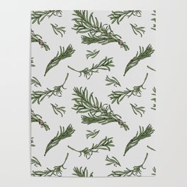 Rosemary rustic pattern Poster