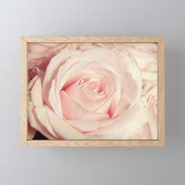 Pink rose photo. Blush flower photography. Botanical feminine decor. Floral Gift for her Framed Mini Art Print