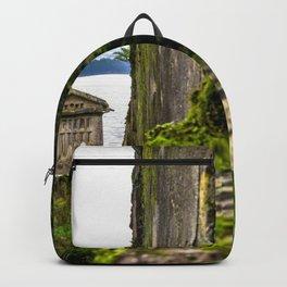 Combarro, Pontevedra, Galicia, Spain. Backpack