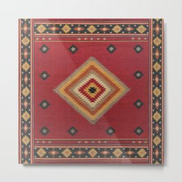 14 - Anthique Vintage Traditional Moroccan & Turkish Artwork. Metal Print