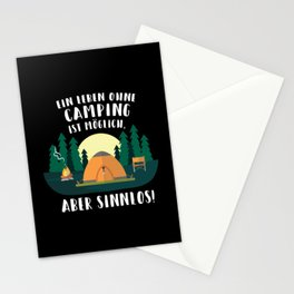 A Life Without Camping Funny Gift Stationery Cards