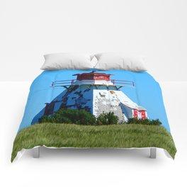 Lighthouse in Disrepair Comforters