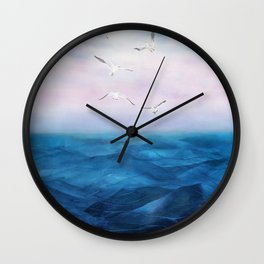 Watercolor Sea 5 Wall Clock