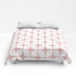 Mid Century Modern Star Pattern Dusty Rose Comforters
