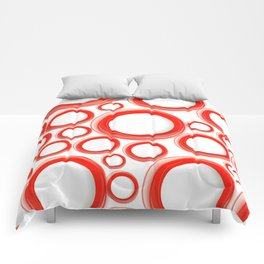 Red Cicles 01 Comforters