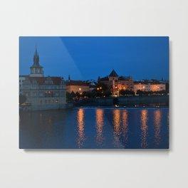 Prague Lights Metal Print