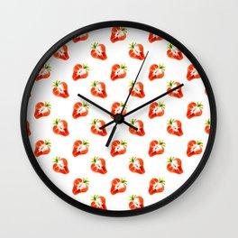strawberry slice Wall Clock