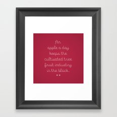 Proverbs: An Apple a Day Framed Art Print