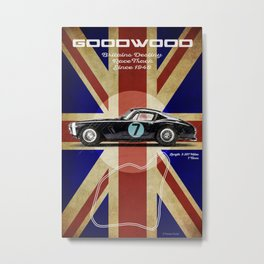Goodwood Racetrack Vintage Metal Print