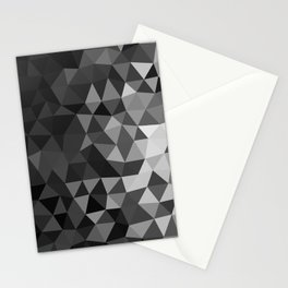 Gray Geometric Pattern Stationery Cards
