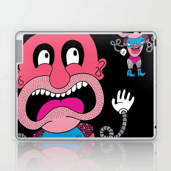 Red Face Weirdo Laptop & iPad Skin
