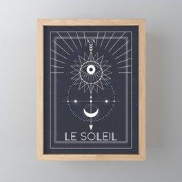 Le Soleil or The Sun Tarot Framed Mini Art Print