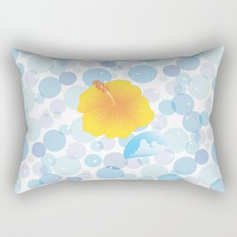 Hibiscus and Thunderhead reflected on the bubble_Y Rectangular Pillow