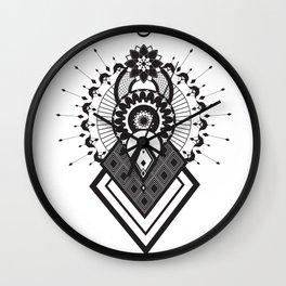 Mandala of the sun, moon and stars. Wall Clock