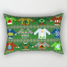 The Ugly 'Ugly Christmas Sweaters' Sweater Design Rectangular Pillow