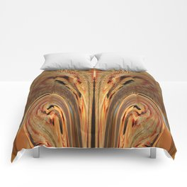 Strawberry Floral Flipped And Fluffed  v.1 Comforters