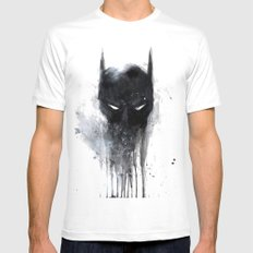 Bat Man fan art Mens Fitted Tee X-LARGE White