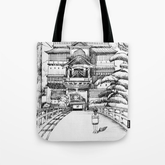 Spirited Away Bathhouse Tote Bag