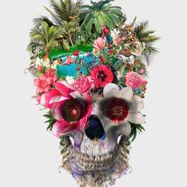 Framed Art Print - Summer Skull IV - RIZA PEKER