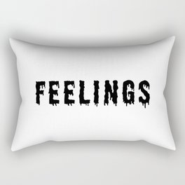 Too Many Feelings Rectangular Pillow