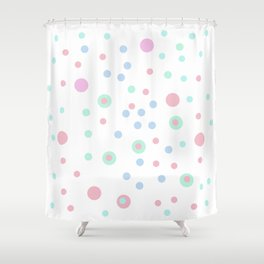 candy dots Shower Curtain