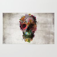 a lot of cats Area & Throw Rugs featuring SKULL 2 by Ali GULEC