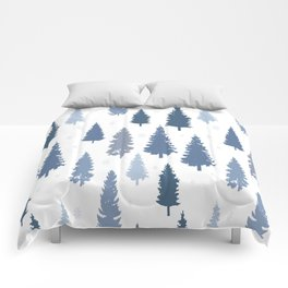 Pines and snowflakes pattern Comforters