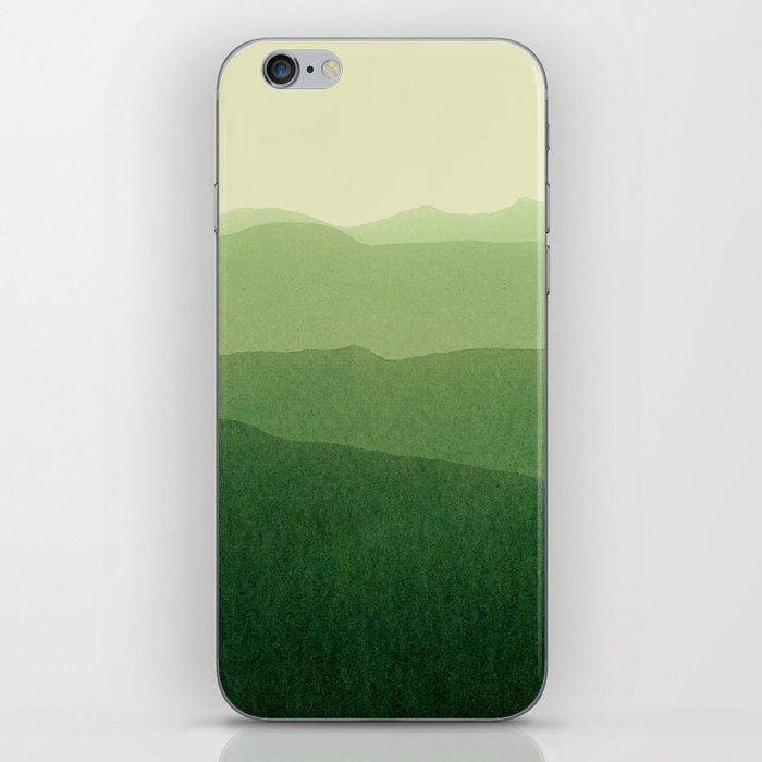 gradient landscape green iPhone Skin
