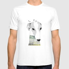 Mr. Galgo Dog Mens Fitted Tee White MEDIUM