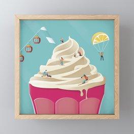 Mountain Ice Cream Framed Mini Art Print