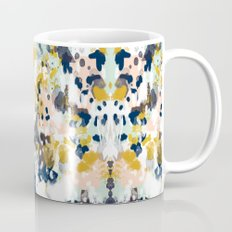 Sloane - Abstract painting in modern fresh colors navy, mint, blush, cream, white, and gold Mug