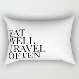 eat well travel often Rectangular Pillow