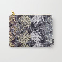 Earthy Neutral Medley, Flowers in Golds and Grays Carry-All Pouch